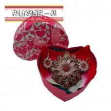 Дамски подаръчен комплект  - медальон с обеци