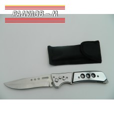 Сгъваем нож с метална дръжка и калъф Т217 / 769