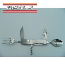 Сгъваем нож комбиниран с вилица и лъжица МЕТАЛЕН Т226 / 773