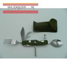 Сгъваем нож комбиниран с вилица и лъжица ЗЕЛЕН Т227 / 774