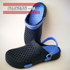Мъжки чехли тип крокс, синьо и черно, размери 41-45 / 640235