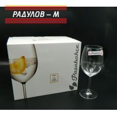 Комплект шест чаши Сидера вино 440мл / 101177