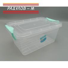Кутия правоъгълна с щипки 3.5 литра / 200050