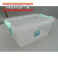 Кутия правоъгълна с щипки 5.5л / 200051