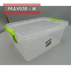 Кутия правоъгълна с щипки 7.2л / 200053