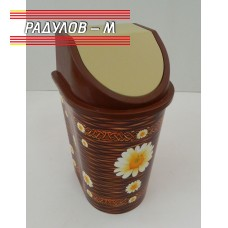 Кош за смет с плаващ капак с декор / 200088