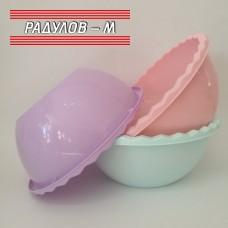 Купа с триъгълен ръб, пластмаса, различни цветове / 200123
