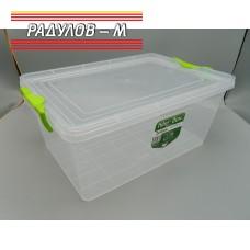 Кутия правоъгълна с щипки 15л / 200935