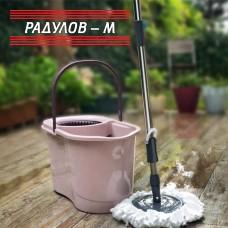 Spin mop - Комплект въртящ моп с кофа за измиване и отцеждане / 200990