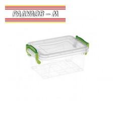 Кутия правоъгълна с щипки 1 литър / 201128