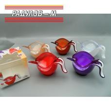 Захарница с лъжичка пластмасова / 201168
