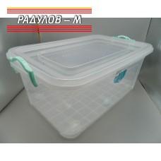 Кутия правоъгълна с щипки 40л / 201199