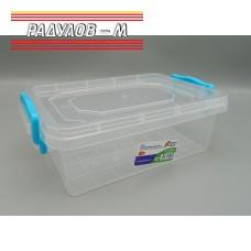 Кутия правоъгълна с щипки 1.2л / 201301