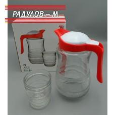 Комплект кана с шест чаши / 201383