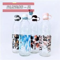 Стъклена бутилка за вода Luna Dekor 1 литър / 201900