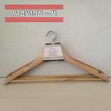 Закачалка за дрехи дърво, сет 3 броя / 2355