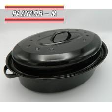 Тава елипса с капак 34см / 30007