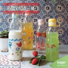Стъклена бутилка за вода Luna Dekor 0.5 литра / 201899