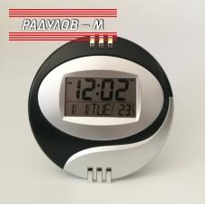 Електронен часовник стенен/настолен ф20 см / 3870