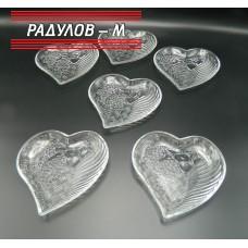 Комплект чинийки сърце 6бр / 5516