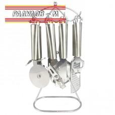 Комплект кухненски прибори 8 части на стойка Elekom ЕК-7616SS / 70036