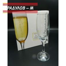 Комплект шест чаши за шампанско / 800549