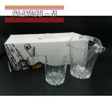 Комплект шест чаши за уиски с ледиера / 800608