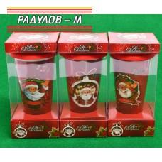 Коледна чаша порцеланова с капак / 85688