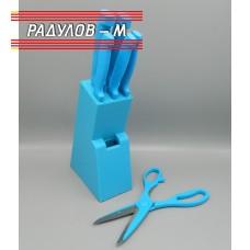 Комплект ножове с пластмасова поставка / 968