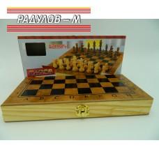Шах и табла дървен 30см / 2628