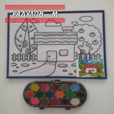 Комплект за оцветяване - картина в рамка  / 4203