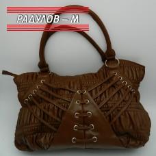 Дамска чанта еко кожа в кафяво / 209