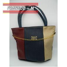 Дамска кожена чанта / 3381-12