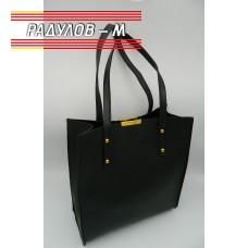 Дамска кожена чанта / 3381-17