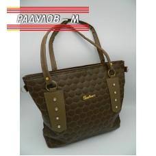 Дамска кожена чанта / 3381-20