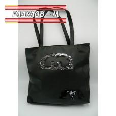 Дамска кожена чанта / 3381-3