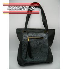Дамска кожена чанта / 3381-4