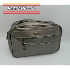 Дамска кожена чанта / 3387-10