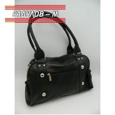 Дамска кожена чанта / 3387-17