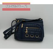 Дамска кожена чанта / 3387-21