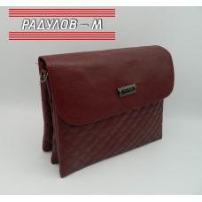 Дамска кожена чанта / 3387-23