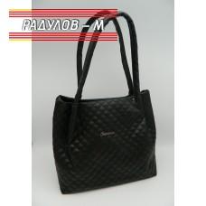 Дамска кожена чанта / 3387-25