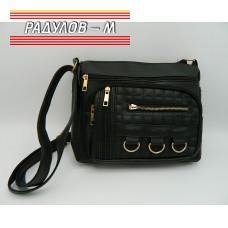 Дамска кожена чанта / 3387-27