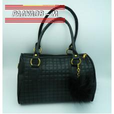 Дамска кожена чанта / 3387-3
