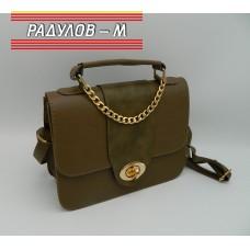 Дамска кожена чанта / 3387-35