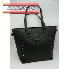 Дамска кожена чанта / 3387-6