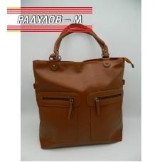 Дамска кожена чанта / 3387-8