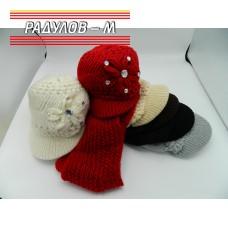 Комплект дамски шал и шапка / 4410