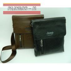 Мъжка кожена чанта с цип JEEP / 5136