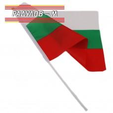 Знаме на България 30*45 cm  дръжка, 10 броя / 8026